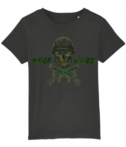 Nerf Wars Skulls and Guns Kids T Shirt